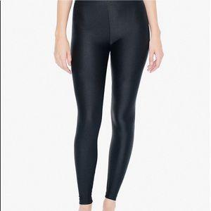 Black shiny leggings